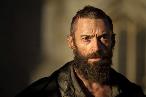 Proletarian hero Jean Valjean (Hugh Jackman) sloshes through the sewers of Paris.