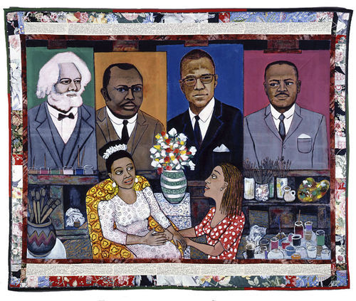 Some of the works, like this from Faith Ringgold, narrate the experiences of black women.