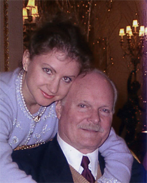 Bruce McMahan and Elena Larionova (maiden name) in an undated photo before their wedding. According to Elena, Linda McMahan Schutt took this photo while the three were visiting at the Ritz Carlton in London.