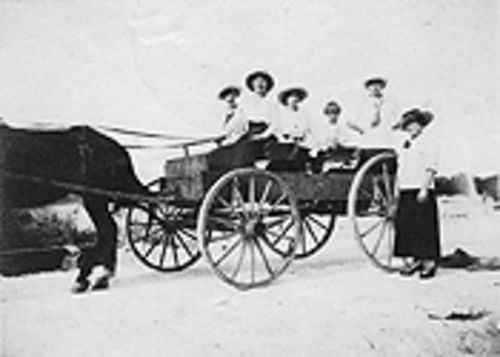 Davie residents cruisin' on Griffin Road in 1917