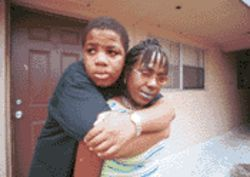 Despite a hot temper that landed him in juvenile court, 12-year-old Corrie Williams shows his mother, Jacqueline, his sweeter side