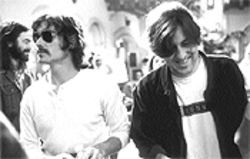 Backstage pass: Cameron Crowe, right, directs Billy Crudup on the set of Almost Famous.