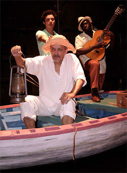Pendelton as Old Man Santiago, Cordova as Manilo, and Robinson as Cienfuegos.