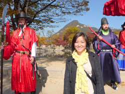Chae visits the Gyeongbokgung Palace during her first trip to Korea.