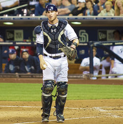 Padres catcher Yasmani Grandal was suspended last year for violating baseball&#039;s doping rules.