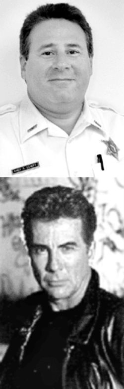 Both Detective Scheff (top) and John Walsh were determined to send Rivera to death