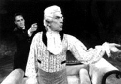 William Metzo (right) in Quills, a 1999 production by one of Dougherty's favorite groups, Florida Stage