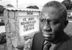 The Rev. Joseph Tyson contends that the area's pastors were kept out of the loop on plans for Merry Place