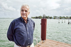 "Cesar Valdesuso is tired of neighbors turning San Marino Island into a movie studio. ""It's all about money, money, money to them,"" he says."