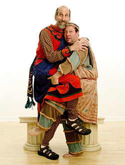 Hoffman (right, with Steve Gladstone): The resurrection of Zero Mostel, almost
