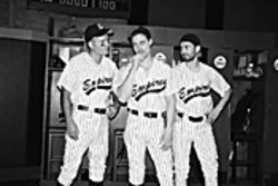 Charlie Kevin, Michael Polak, and Haskell King (from left): Where&#039;s the smell of liniment?