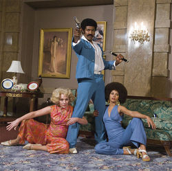 Black Dynamite: Sorry he pimp-slapped you into that china cabinet.
