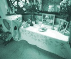 A shrine to Swami Sivananda in Yogi Hari&#039;s house