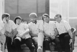 He&#039;s been dazed and confused for so long: Brian Wilson (second from left, sleeping) with the Beach Boys back in the day
