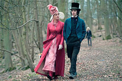 Abbie Cornish as Fanny Brawne and Ben Whishaw as John Keats
