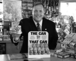 Advertising executive Warren Chiavaroli  is the man behind the plan to sell  Cans of Help at  local Shell stations