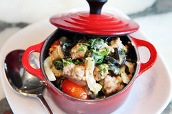 A pot of the squid ink orecchiette is something to die for.