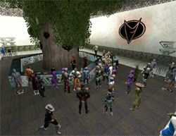 Players can interact with others in the game.