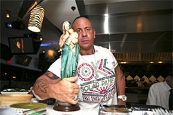 Martorano and friend: Except for the olive oil, she's the only virgin in the place.