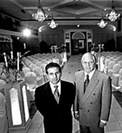 Michael Pecora (left) and Jerome Berlin built a catering empire in  South Florida, but a feud over a condo  and Arlene Pecora's role at the  company led to bad blood