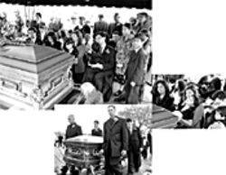 The first family of reggae gathers as Vincent Chin is laid to rest in Hollywood, February 8, 2003