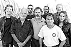 Front row: Phil Lesh, Bill Kreutzmann, Bob Weir, Mickey Hart, and Joan Osborne. Back row: those other three guys.