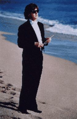 FPO conductor James Judd hits the beach