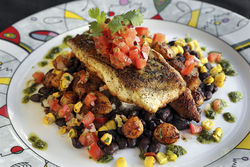 The black grouper­ special ($22) includes a generous portion of meaty, juicy fish.