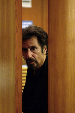 Pacino: Here's barely lookin' at you.