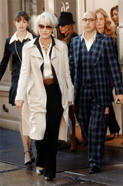 Streep (center), with Hathaway and Tucci: &quot;That&#039;s all.&quot;