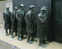 George Segal's Depression Bread Line.