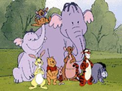 Pooh and the gang.
