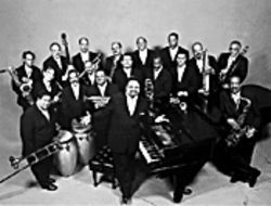 Arturo O'Farrill (center) and the ALJO