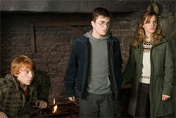 Harry and the gang move beyond the schoolboy frolic to a darker challenge. Professor Snape (Alan Rickman, top) is part of the evil brew.