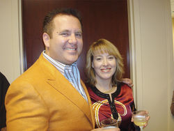 Melissa Lewis, seen here with Scott Rothstein, celebrated becoming a partner at the Rothstein Rosenfeldt Adler firm shortly before she was killed.