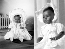 Sara Creech says the Saralee doll (left) is a poor rendition of the Sara Lee doll (right)  that she developed in the early 1950s, and she wants doll companies to stop selling it