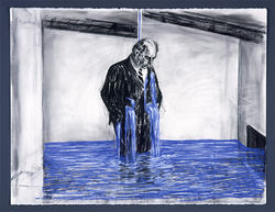 Kentridge&#039;s Drawing for the film Stereoscope [Felix Crying].