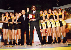 Billy Mitchell: Living the dream, complete with Pac-Man Girls.