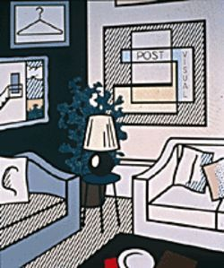 Roy Lichtenstein&#039;s Post Visual (1993) comments on modern life
