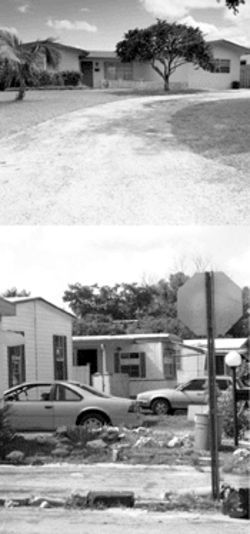 Paramedics found Sherry dead on the terrazzo floor of this Miramar home (above); the drugs that killed her were likely purchased in Silver Oaks (below), which has a bad reputation when it comes to drugs