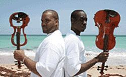 Hip-hop -- it's all about sex and violins. Just ask Kev Marcus (left) and Wilner Baptiste.