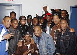Leaders of the old school, Grandmaster Dee, and friends in 2006.