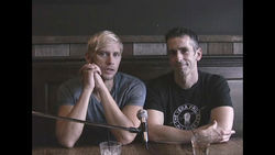 "Sex columnist Dan Savage, right, and husband Terry Miller appear in the inaugural ""It Gets Better"" video."