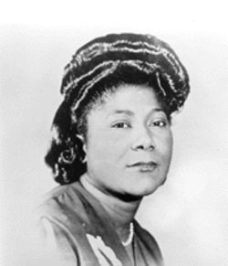 "Mahalia Jackson contributes to the collection basket with ""Didn't It Rain"""