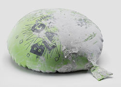 "Dan Colen's Whoopee Cushion, on display at OHWOW's final ""It Ain't Fair"" exhibition."