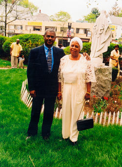 Ronald and his mother, Viola, on vacation in Quebec. Viola came to the United States from Haiti when she was 25 years old.