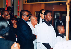Jarmil and Viola at Ronald's funeral in Fort Lauderdale.