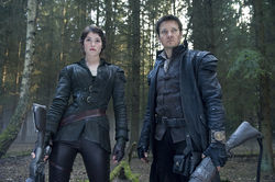 Gemma Arterton and Jeremy Renner star as the title characters in Hansel & Gretel.