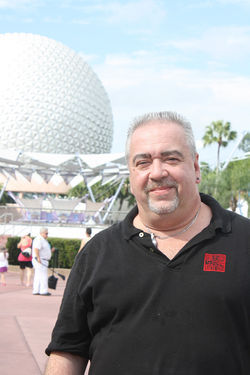 Pete Werner, 46, near the site of his 1991 Epcot epiphany.