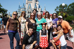 "At the Magic Kingdom, a real-life ""DIS meet"" of Disney fans from the online boards."